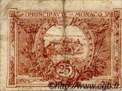 25 Centimes marron MONACO  1920 P.01a TB