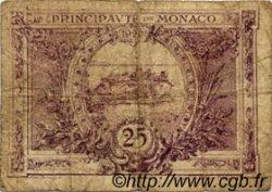 25 Centimes violet MONACO  1920 P.02a B
