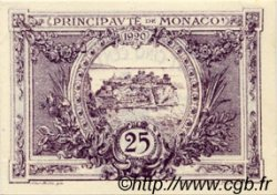 25 Centimes violet MONACO  1920 P.02b pr.NEUF