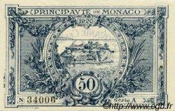 50 Centimes MONACO  1920 P.03a pr.NEUF
