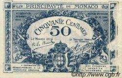 50 Centimes MONACO  1920 P.03a TTB+