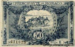 50 Centimes MONACO  1920 P.03a SUP