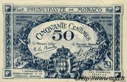 50 Centimes MONACO  1920 P.03a SUP+