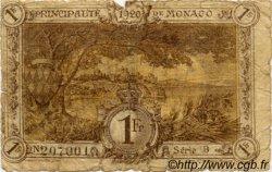 1 Franc MONACO  1920 P.04b AB