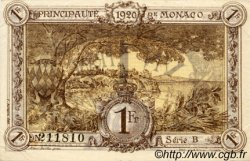1 Franc MONACO  1920 P.04b SUP à SPL