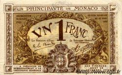 1 Franc MONACO  1920 P.04b TTB+