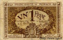 1 Franc MONACO  1920 P.04b B