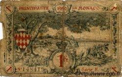 1 Franc MONACO  1920 P.05 AB