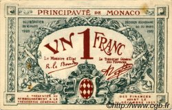 1 Franc MONACO  1920 P.05 SUP