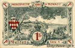 1 Franc MONACO  1920 P.05 SUP+
