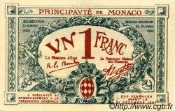 1 Franc MONACO  1920 P.05 pr.NEUF