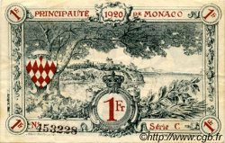 1 Franc MONACO  1920 P.05 TTB