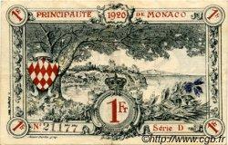 1 Franc MONACO  1920 P.05 TTB+
