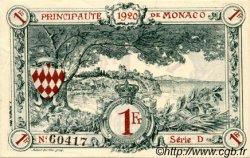 1 Franc MONACO  1920 P.05 SPL