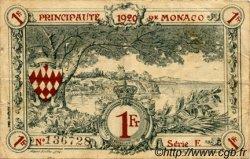 1 Franc MONACO  1920 P.05 TB+