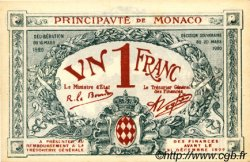1 Franc MONACO  1920 P.05rs SPL+