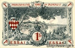 1 Franc ESSAI MONACO  1920 P.05r NEUF