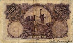 500 Mils PALESTINE  1929 P.06b B+