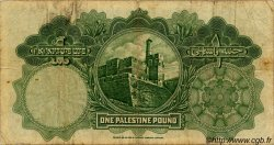 1 Pound PALESTINE  1939 P.07c B à TB