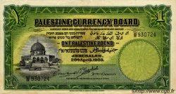1 Pound PALESTINE  1939 P.07c TTB+ à SUP