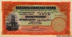 5 Pounds PALESTINE  1929 P.08b TTB+