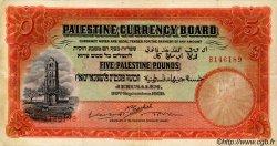 5 Pounds PALESTINE  1929 P.08b TTB