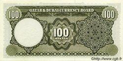 100 Riyals QATAR et DUBAI  1960 P.06a NEUF