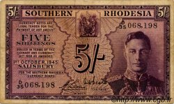 5 Shillings RHODÉSIE DU SUD  1945 P.08Aa TB