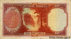 10 Shillings RHODÉSIE DU SUD  1953 P.12b pr.TB