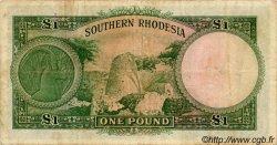 1 Pound RHODÉSIE DU SUD  1955 P.17 TB+