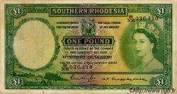 1 Pound RHODÉSIE DU SUD  1955 P.17 pr.TTB