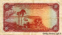10 Shillings RHODÉSIE ET NYASSALAND  1958 P.20a TB+
