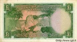 1 Pound RHODÉSIE ET NYASSALAND  1957 P.21a TTB+