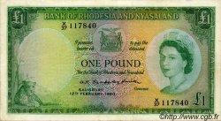 1 Pound RHODÉSIE ET NYASSALAND  1960 P.21a TTB+