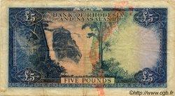 5 Pounds RHODÉSIE ET NYASSALAND  1960 P.22a pr.TB