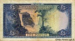 5 Pounds RHODÉSIE ET NYASSALAND  1960 P.22b TB