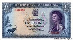5 Pounds RHODÉSIE  1966 P.29a TTB+
