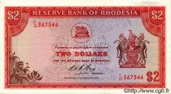 2 Dollars RHODÉSIE  1970 P.31a SPL