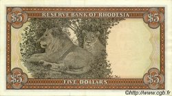 5 Dollars RHODÉSIE  1972 P.32a SPL