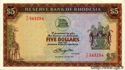 5 Dollars RHODÉSIE  1979 P.32c SPL