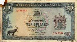 10 Dollars RHODÉSIE  1973 P.33f B