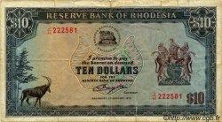 10 Dollars RHODÉSIE  1979 P.33c B