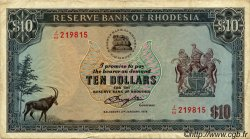 10 Dollars RHODÉSIE  1979 P.41a TB