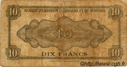 10 Francs RWANDA BURUNDI  1960 P.02 B