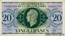 20 Francs SAINT PIERRE ET MIQUELON  1943 P.12 TTB+
