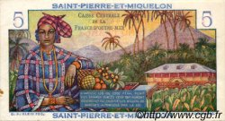5 Francs Bougainville SAINT PIERRE ET MIQUELON  1946 P.22 SPL