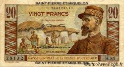 20 Francs Émile Gentil SAINT PIERRE ET MIQUELON  1946 P.24 TTB