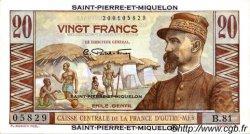 20 Francs SAINT PIERRE ET MIQUELON  1946 P.24 SUP