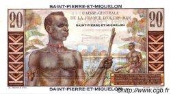 20 Francs Émile Gentil SAINT PIERRE ET MIQUELON  1946 P.24 pr.NEUF