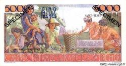 5000 Francs Schoelcher SAINT PIERRE ET MIQUELON  1946 P.29s pr.NEUF
